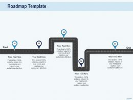 Cross Selling In Banks Roadmap Template Editable Audience Ppt Powerpoint Professional