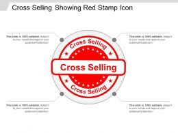 Cross Selling Showing Red Stamp Icon