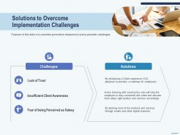 Cross Selling Solutions To Overcome Implementation Challenges Awareness Ppts Tips