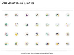 Cross Selling Strategies Icons Slide Ppt Rules