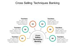 Cross Selling Techniques Banking Ppt Powerpoint Presentation Styles Model Cpb