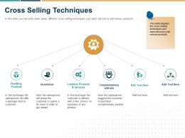 Cross Selling Techniques Ppt Powerpoint Presentation Design Templates