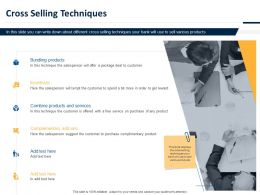 Cross Selling Techniques Ppt Powerpoint Presentation Diagrams