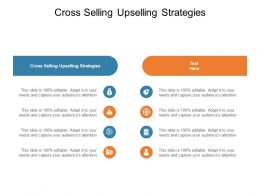 Cross Selling Upselling Strategies Ppt Powerpoint Presentation Template Cpb