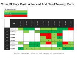 Cross Skilling Basic Advanced And Need Training Matrix