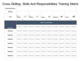 Cross Skilling Skills And Responsibilities Training Matrix
