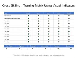 Cross Skilling Training Matrix Using Visual Indicators