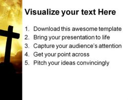 Cross Sunset Religion PowerPoint Template 0610  Presentation Themes and Graphics Slide03