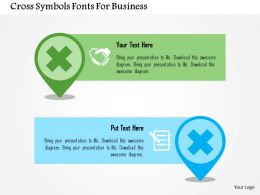 Cross Symbols Fonts For Business Flat Powerpoint Design