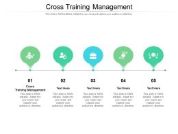 Cross Training Management Ppt Powerpoint Presentation Outline Aids Cpb