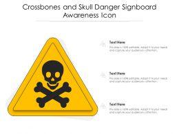 Crossbones And Skull Danger Signboard Awareness Icon