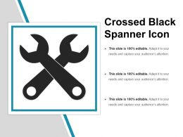 Crossed Black Spanner Icon