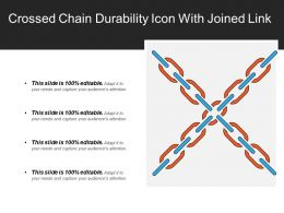 Crossed Chain Durability Icon With Joined Link