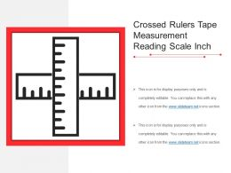Crossed Rulers Tape Measurement Reading Scale Inch