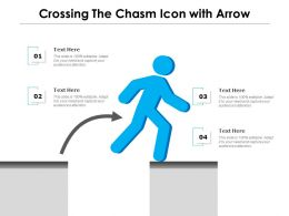Crossing The Chasm Icon With Arrow