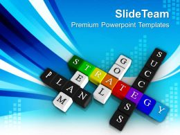 Crosswords Form Business Strategy Success Powerpoint Templates Ppt Themes And Graphics 0213