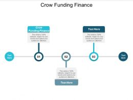 Crow Funding Finance Ppt Powerpoint Presentation Gallery Maker Cpb