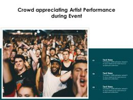 Crowd Appreciating Artist Performance During Event