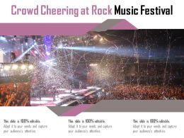 Crowd Cheering At Rock Music Festival