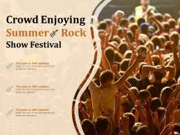 Crowd Enjoying Summer Rock Show Festival
