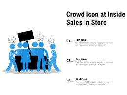 Crowd Icon At Inside Sales In Store