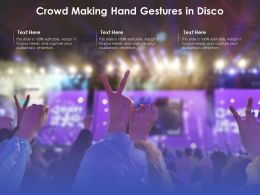 Crowd Making Hand Gestures In Disco