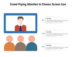 Crowd Paying Attention To Cinema Screen Icon