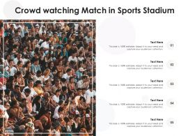 Crowd Watching Match In Sports Stadium