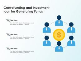 Crowdfunding And Investment Icon For Generating Funds