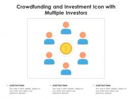 Crowdfunding And Investment Icon With Multiple Investors
