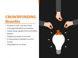 Crowdfunding Benefits Sample Ppt Presentation