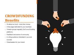 Crowdfunding Benefits Sample Ppt Presentation