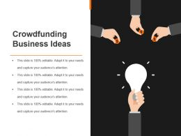 Crowdfunding Business Ideas Good Ppt Example
