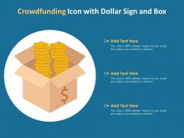 Crowdfunding Icon With Dollar Sign And Box