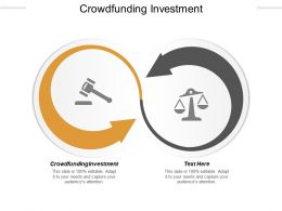 Crowdfunding Investment Ppt Powerpoint Presentation Infographics Inspiration Cpb
