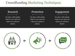 Crowdfunding Marketing Techniques Powerpoint Slide Background