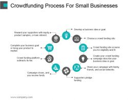 Crowdfunding Process For Small Businesses Powerpoint Slide Rules