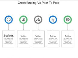Crowdfunding Vs Peer To Peer Ppt Powerpoint Presentation Ideas Summary Cpb