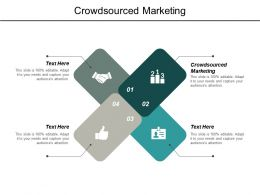 Crowdsourced Marketing Ppt Powerpoint Presentation Outline Graphics Pictures Cpb