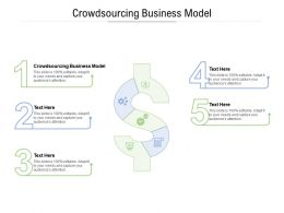 Crowdsourcing Business Model Ppt Powerpoint Presentation Visual Aids Ideas Cpb