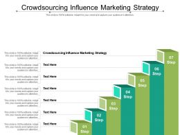 Crowdsourcing Influence Marketing Strategy Ppt Powerpoint Presentation Icon Example Introduction Cpb