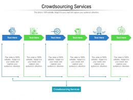 Crowdsourcing Services Ppt Powerpoint Presentation Model Clipart Images Cpb