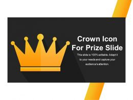 Crown Icon For Prize Slide Ppt Example File