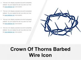 Crown Of Thorns Barbed Wire Icon