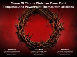 Crown Of Thorns Christian Powerpoint Templates And Powerpoint Themes With All Slides