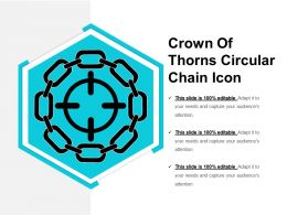 Crown Of Thorns Circular Chain Icon