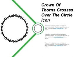 Crown Of Thorns Crosses Over The Circle Icon