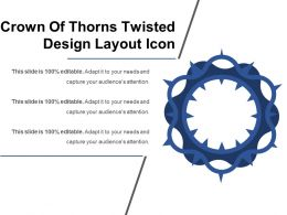Crown Of Thorns Twisted Design Layout Icon