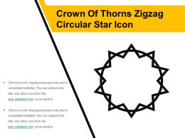 Crown Of Thorns Zigzag Circular Star Icon
