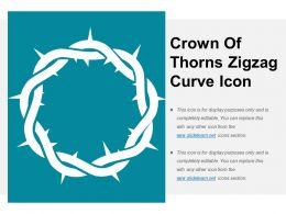 Crown Of Thorns Zigzag Curve Icon